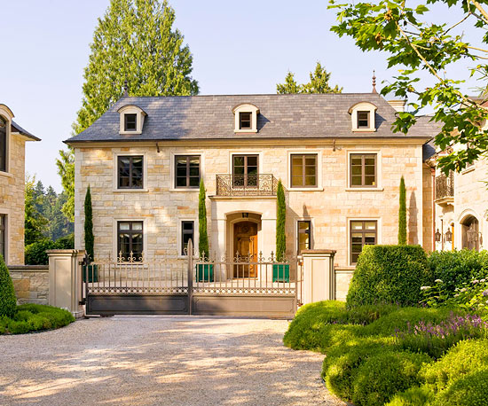 french country home in barrington